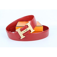 Hermes belt men's and women's casual casual style H letter fashion belt319