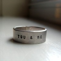 Personalized Rustic Wedding Band by tinahdee on Etsy