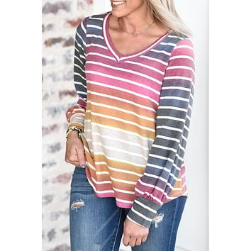 All About It Striped Top