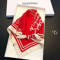 Valentino Summer Popular Women Luxury Silk Scarf Silk Cape Scarf Scarves