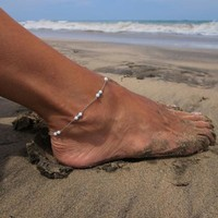 Cute Stylish Shiny Sexy Jewelry New Arrival Gift Ladies Hot Sale Simple Handcrafts Turquoise Anklet [7240938503]