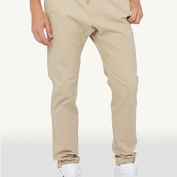Solid Twill Athletic Jogger