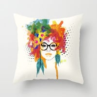 Dreamer Throw Pillow by PositIva