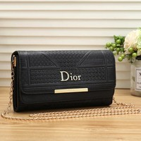Dior Women Fashion Leather Chain Crossbody Satchel Shoulder Bag