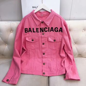 balenciaga Fashion Denim Cardigan Jacket Coat
