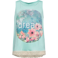 Full Tilt Dream Girls Tank Mint  In Sizes