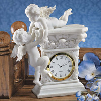 Park Avenue Collection Baroque Twin Cherubs Clock
