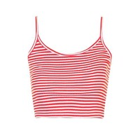 Stripe Crop Cami - Clothing
