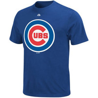 Chicago Cubs Blue Logo T-Shirt By Majestic
