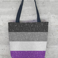 Glitter Asexual Flag