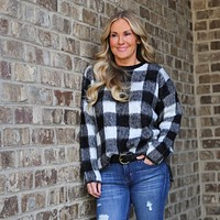 Blake Furry Buffalo Plaid Pullover