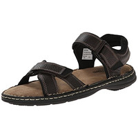 Deer Stags Mens Aruba Faux Leather Textured Fisherman Sandals