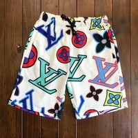 LV 2018 summer trendy men's and women's beach shorts five pants F/A