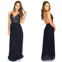 Just Like Me Maxi Dress In Black