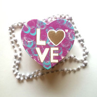 Love - heart and arrow - heart shaped jewelry box for trendy girls room