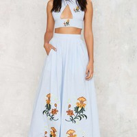 Nightwalker Palazzo Embroidered Pants