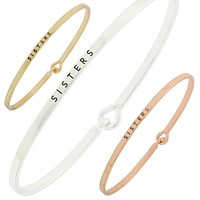 Sisters Simple Message Being Bangle