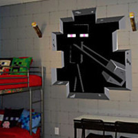 3D Wall Stickers Wall Decals Minecraft PVC Wall Stickers