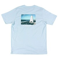 Seaside Tower Tee in Light Blue by Southern Point Co.