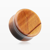 A Pair of Tiger Eye Stone Double Flared Ear Gauge Plug