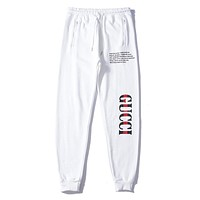 Gucci Trending Women Men Casual Letter Print Pants Trousers Sweatpants White I-A-KSFZ