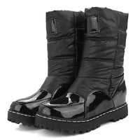Woman Mother Boots Slip-Resistant Waterproof Cotton-Padded Shoes Thermal Maternity Plus Snow Boots Size 33-43