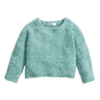 H&M - Knit Sweater - Turquoise - Kids