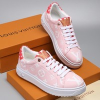 Louis Vuitton LV White Pink Rose/Rouge Time Out Sneaker