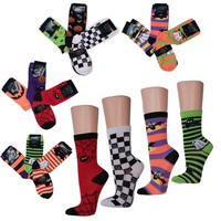 Spooky Halloween Crew Socks for Women - Set of 3