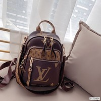LV Louis Vuitton Women Leather Shoulder Bag Satchel Tote Bags