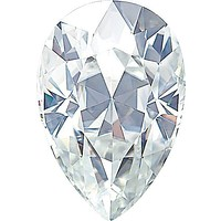 Pear Cut Faceted Forever One™ Moissanite Gemstone  - Colorless (D-E-F)