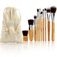 New Fashion Professional 10pcs Soft Cosmetic Tool Makeup Brush Set Kit With Pouch