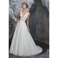 Morilee 8208 Kelly Delicately Beaded Lace Ball Gown Wedding Dress