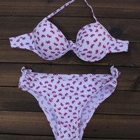 Retro Bow Bandage Bikinis Women Swimsuit Bathing Suit