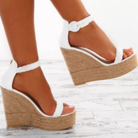 Hot style super high heel waterproof platform buckle sandals