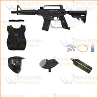 US Army Paintball Alpha Black eGrip Protector Tacamo Package - Paintball Store WaveToGo