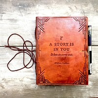 "PRE ORDER ""If A Story"" Handmade Leather Journal"
