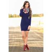 PIKO:Steady As We Go Dress-Navy