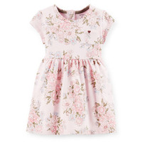 French Terry Floral Dress