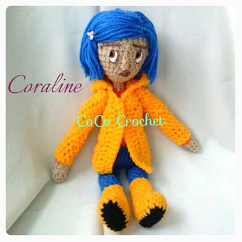 Coraline Amigurumi Doll-made to order | 354x354