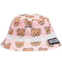 Baby Girls Pink Teddybear Logo Hat