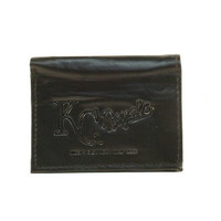 MLB Officially Licensed Genuine Leather Tri-Fold Wallet -Black ( Color:Kansas City Royals Kansas City Royals) by Rico