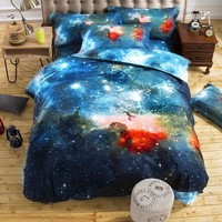 Galaxy Bedding Duvet Cover Set Twin/Queen Size