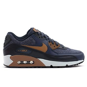 NIKE Mens Air Max 90 Premium Wool Pack Shoes