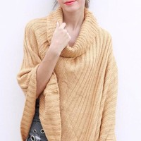 Katie Ribbed Poncho