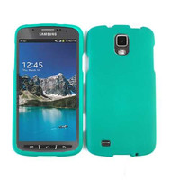 Unlimited Cellular Snap-On Protector Case for Samsung I9252 Galaxy S4 Active/i537 (Leather Finish Emerald Green)