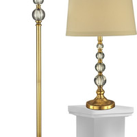 """0-008613>Optic Orb 26.5"""" 1-Light Table Lamp And 61.5"""" Floor Lamp Set Antique Brass"""
