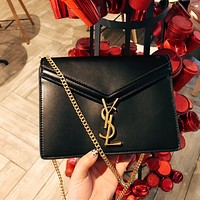 Saint Laurent YSL Cassandra Monogram Clasp Bag