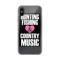 Hunting Fishing Country Music Fans iPhone Case