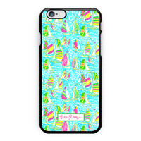 New Lilly Pulitzer Summer Surfing Print On Hard Case For iPhone 6s 6s plus
